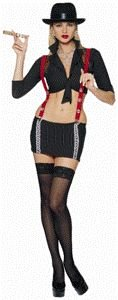 Gangsta Girl Adult Halloween Costume Size Large 12-14