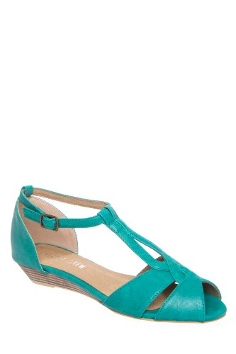 Chelsea Crew Florence Low Wedge Ankle Strap Sandal
