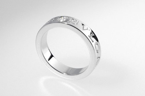 BVLGARI ブルガリ リング ダブルロゴリング RWD AN853348 ホワイトゴールド 18K 指輪 ペアリング マリッジリング【日本サイズ7号】