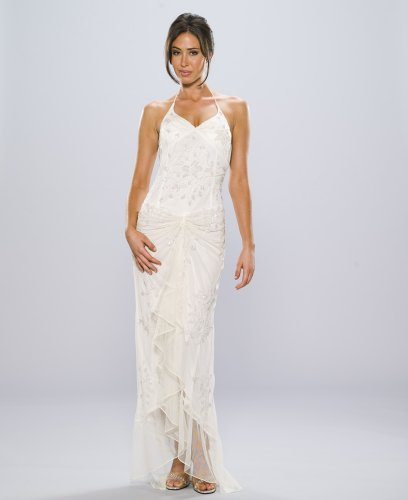 Ivory Beaded Dress - Informal Bridal, Wedding, Party, Formal Gown by Sean Collection (1641) Ivory