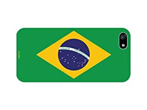 Cellet Proguard Case with Brazil Flag for Apple iPhone 5 - White