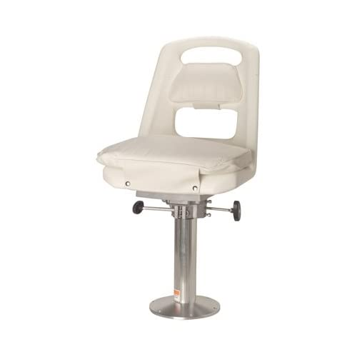 Offshore Helm Chair with Pedestal White