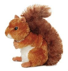 Aurora Plush Nutsie Brown Squirrel 6.5
