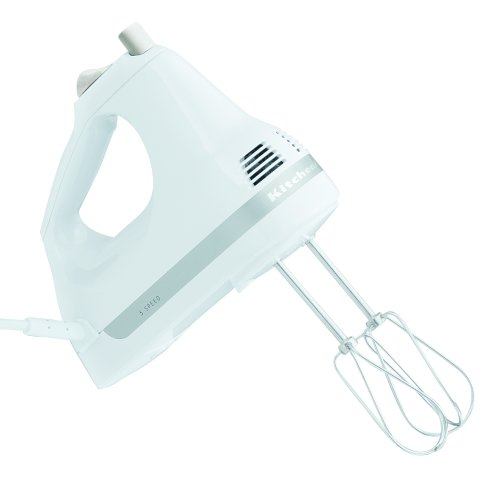 kitchenaid khm5apwh 5 speed ultra power hand mixer white by kitchenaid - Kitchen Aid Hand Mixer