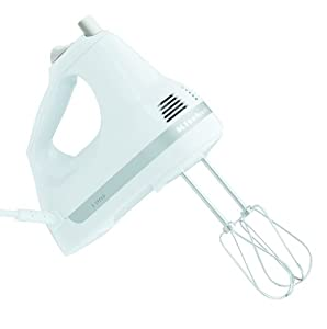 KitchenAid KHM5APWH 5-Speed Ultra Power Hand Mixer, White