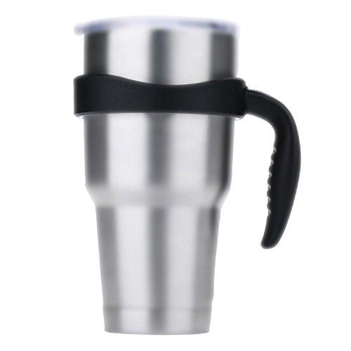 niceEshop(TM) Cup Handle for Non-Slip Grip, Fits 30 Oz YETI Rambler Tumbler, RTIC, SIC, Ozark Trail and More Mug,Black (Handle Only)