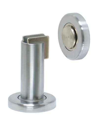 FPL Door Locks H2017 Heavy Duty Magnetic Door Stop / Holder for Home or Office in Satin Chrome