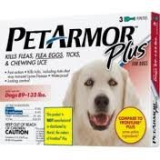 PetArmor Plus for Dogs 89 - 132 lbs 3 Dose Box