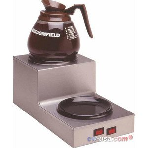 "Bloomfield 8708DSU Coffee Warmer, 2-Station, Step-up, Stainless Steel, 14 1/2"" Depth, 7 1/2"" Width, 6 1/2"" Height"