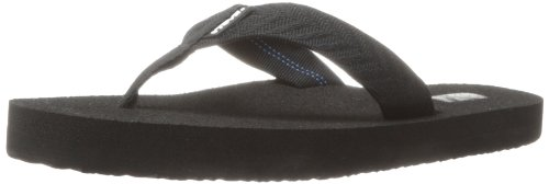 Womens Black Flip Flops front-485109