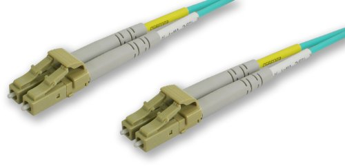 Lynn Electronics Lclc-10Gig-4M Lc-Lc 50/125-10 Gig Duplex Multi-Mode Fiber Optic Patch Cable, 4-Meter, Aqua