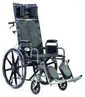 "Sentra Wheelchair 20"" Seat Width - Full Reclining Back With Removable Full Arms from Healiohealth"
