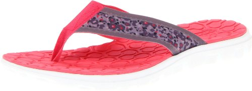 Skechers Women's On The Go Guru Flip Flop,Blue/Pink,7 M US
