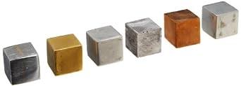 Ajax Scientific 6 Piece Cube Density Metal Set, 20mm: Amazon.com