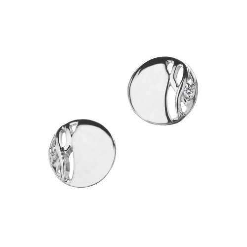Hot Diamonds Arabesque Eclipse Disc Silver And Diamond Earrings
