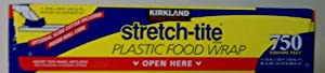 Kirkland Signature Stretch Tite Plastic Food Wrap HUGE 11 7/8 IN X 758 ft. (750 SQ FT) (Pack of 2)