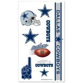 Dallas Cowboys NFL Temporary Tattoos (10 Tattoos)