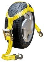 "Highland 1275500 25"" Yellow Tire Width Over Wheel Tie Down"