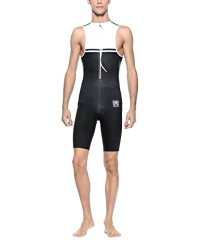Santini Traje Triathlon Triathlon 365 Negro / Verde