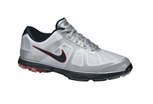 Nike Lunar Ascend Golf Shoes White/Black/Grey/Action Red 11 Wide