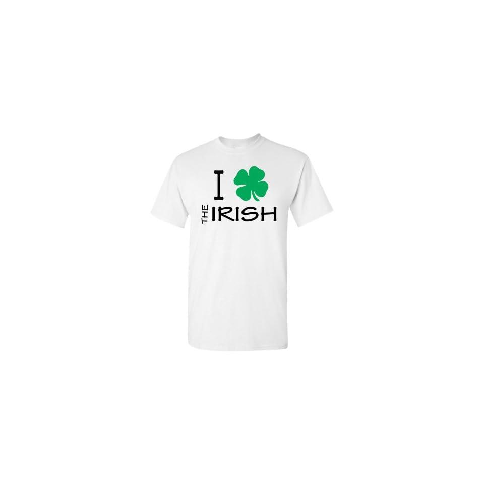 I Love / Heart (Green Clover / Shamrock) The Irish White