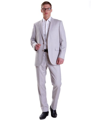 Alberto Cabale Tco2037 50 Straight Grey Man Suits Men - T56-48