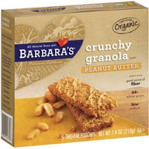 Barbara'S Bakery Organic Peanut Butter Granola Bar ( 12x7.4 OZ) ( Value Bulk Multi-pack)
