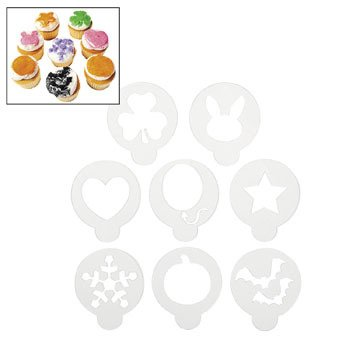 Multi-Occasion Cake Stencils - Birthday Party Supplies & Cake Decorating Supplies (Oriental Trading Company Stencils compare prices)