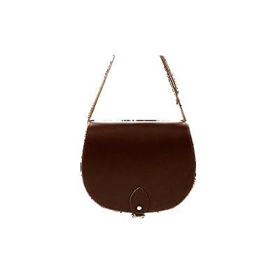 ANU® SW9 ★Genuine Leather Ladies Saddle Satchel Handbag in British Satchel Style ★Handmade in England★Lifetime Warranty ★100% Moneyback Guarantee - satchels