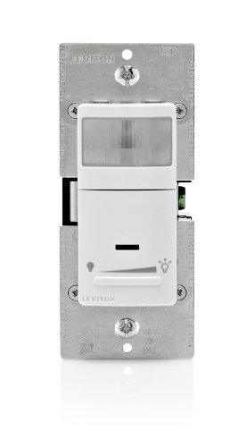 Leviton Ipvd6-1Lz 600-Watt Incandescent, 150-Watt Led/Cfl Dimming Vacancy Sensor (Manual On/Auto Off), Single Pole Or 3-Way