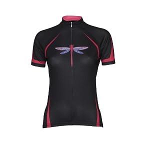 Primal Wear Women's Dragonfly Jersey, Pink/Black, X-Small, Black