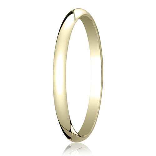 Ladies 2mm Plain Polished Wedding Band