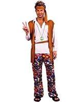 MENS 60'S PEACE HIPPY MAN FANCY DRESS COSTUME