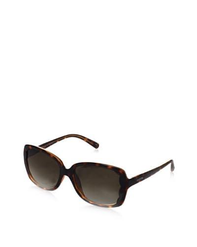 Valentino Women's V608S Sunglasses, Dark Havana