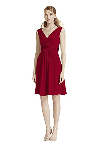 Short Sleeveless Jersey Bridesmaid Dress with Charmeuse Waist Band Style... Charmeuse Maternity Bridesmaid Dress