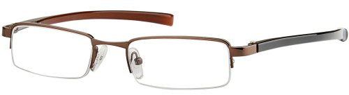 Sunoptic OR51A Coffee/Brown Reading Glasses - Strength +2.00 Including Hard Case