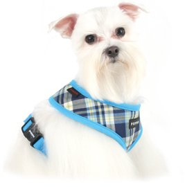 Puppia Soft Dog Harness Spring Blue Medium