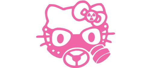 hello-kitty-type-ii-zombi-hunter-aufkleber-rosa-size12x10cm-die-cut-stickers-perfect-gift-for-car-lo