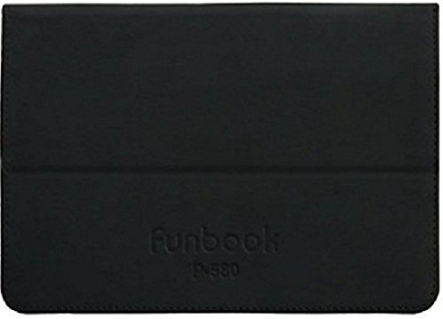 Tablet Book Flip Case Cover For Micromax Funbook Ultra HD P580 - Black