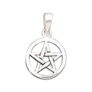 small pentacle sterling silver pendant
