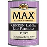Nutro Max Puppy Formulated with Chicken, Lamb and Rice Formula Canned Dog Food