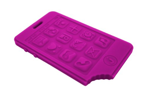 Jellystone Designs jChews Smart Phone Teether – Purple People Eater