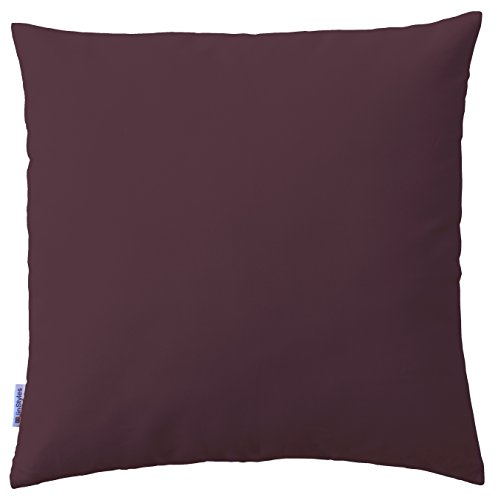 Jinstyles Soft & Thick Cotton Canvas Accent Decorative Throw Pillow / Cushion Covers (Solid Purple, Square, 1 Sham For 20 X 20 Inches Inserts)