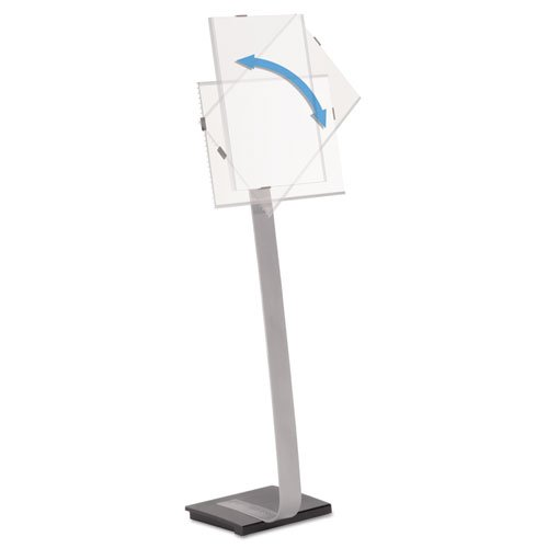 Durable - Info Sign Duo Floor Stand, Tabloid-Size Inserts, 15 X 44 1/2, Clear 4815-23 (Dmi Ea