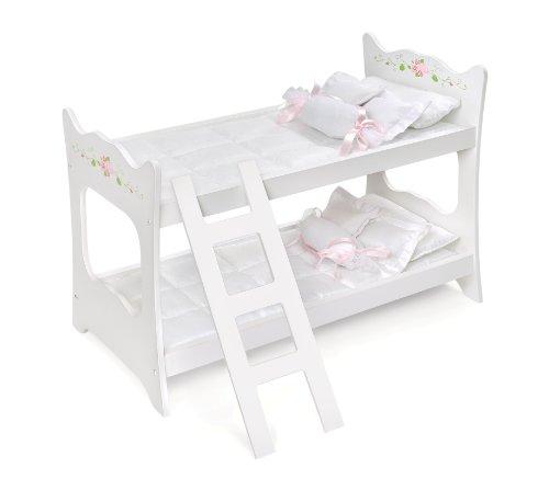 Badger-Basket-White-Rose-Doll-Bunk-Bed-fits-American-Girl-dolls