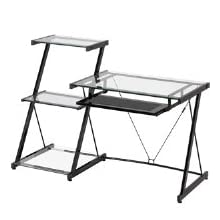 Z-Line Nero Desk and Bookcase