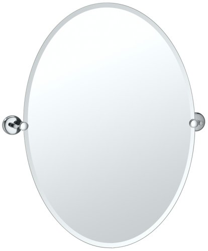 "Gatco 5159Lg Vogue 29-1/4"" Oval Beveled Wall Mounted Mirror, Chrome front-639271"