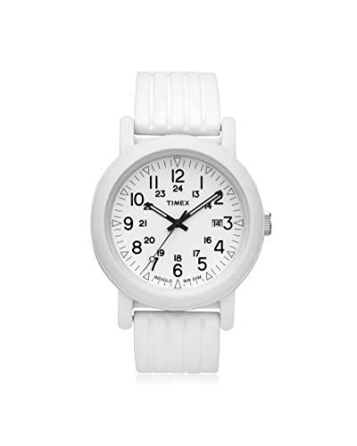 Timex Men's T2N718 Camper White Silicone Watch