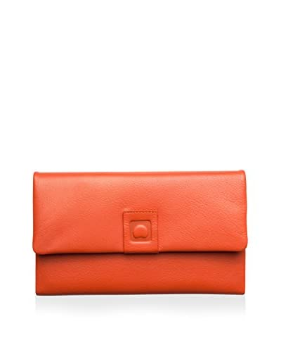 DELSEY Delicatesse All-in-One Tri-Fold Wallet  [Orange]