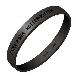 Amazon Com Pow Mia Black Wristbands Sports